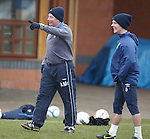 Ally McCoist celebrates his skills as Ian Black laughs with embarrasment