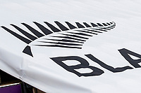 A close up of the Black caps logo at the Hampshire Bowl during a training session ahead of the ICC World Test Championship Final at the Hampshire Bowl on 17th June 2021