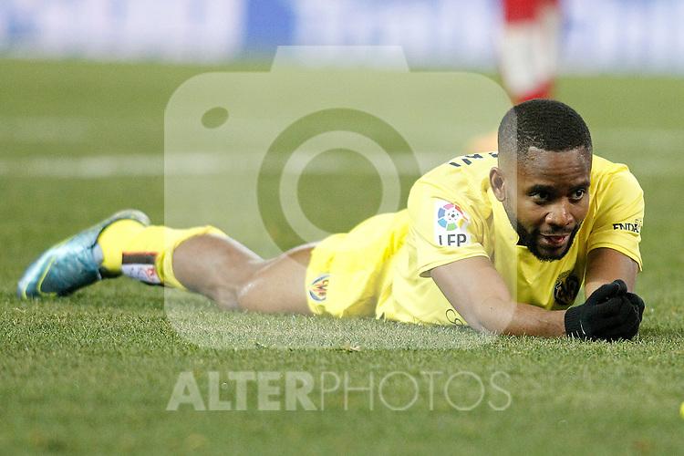 Villareal's Cedric Bakambu dejected during La Liga match. February 21,2016. (ALTERPHOTOS/Acero)
