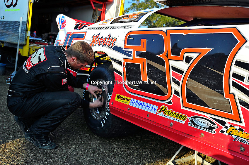 Feb 11, 2011; 5:00:26 PM; Gibsonton, FL., USA; The Lucas Oil Dirt Late Model Racing Series running The 35th annual Dart WinterNationals at East Bay Raceway Park.  Mandatory Credit: (thesportswire.net)