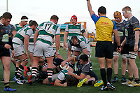 Referee,  Adam Leal signals a try during the Championship Cup Quarter Final match between Ealing Trailfinders and Nottingham Rugby at Castle Bar , West Ealing , England  on 2 February 2019. Photo by Carlton Myrie / PRiME Media Images.