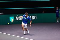 Rotterdam, The Netherlands, 28 Februari 2021, ABNAMRO World Tennis Tournament, Ahoy, First round doubles: Stan Wawrinka (SUI).<br /> Photo: www.tennisimages.com/henkkoster