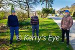 Enjoying a stroll in the Killarney National park on Saturday, l to r: John Fitzgerald, Risteard Clancy and Gerry O'Riordan.