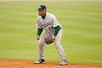 Second baseman Miguel Arrendell #13 of the Lexington Legends on defense against the Kannapolis Intimidators at Fieldcrest Cannon Stadium April 14, 2010, in Kannapolis, North Carolina.  Photo by Brian Westerholt / Four Seam Images