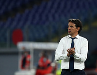 Football, Serie A: S.S. Lazio - Cagliari, Olympic stadium, Rome, July 23, 2020. <br /> Lazio's coach Simone Inzaghi claps his hands during the Italian Serie A football match between Lazio and Cagliari at Rome's Olympic stadium, Rome, on July 23, 2020. <br /> UPDATE IMAGES PRESS/Isabella Bonotto