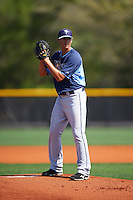Tampa Bay Rays Brent Honeywell (44) during a minor league Spring Training intrasquad game on April 1, 2016 at Charlotte Sports Park in Port Charlotte, Florida.  (Mike Janes/Four Seam Images)