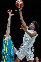 July 14, 2016: STEPHEN THOMPSON JR (2) of the Oregon State Beavers takes a jump shot during game 2 of the Australian Boomers Farewell Series between the Australian Boomers and the American PAC-12 All-Stars at Hisense Arena in Melbourne, Australia. Sydney Low/AsteriskImages.com