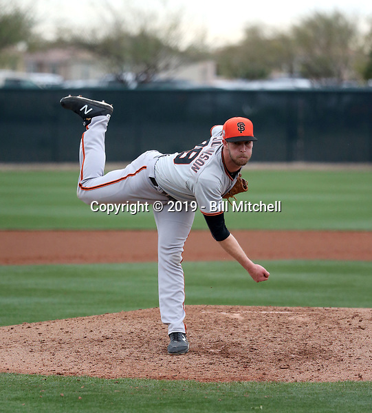 Chase Johnson - San Francisco Giants 2019 spring training (Bill Mitchell)