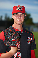Batavia Muckdogs relief pitcher Trenton Hill (39) poses for a photo before a game against the West Virginia Black Bears on June 30, 2016 at Dwyer Stadium in Batavia, New York.  Batavia defeated West Virginia 4-3.  (Mike Janes/Four Seam Images)