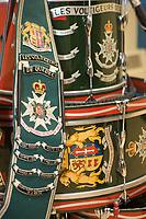 Details of the Regiment des Voltigeurs de Quebec' colours, saved by Captain Stephane Dery during the fire at the Manege Militaire de Quebec on April 4 2008.