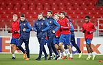 07.11.18 Rangers training at the Spartak Stadium, Moscow: Ross McCrorie, Ryan Jack, Andy Halliday, Connor Goldson, Joe Worrall, Gareth McAuley, Dapo Mebude