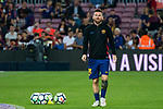 Lionel Andres Messi of FC Barcelona looks on prior to the La Liga 2017-18 match between FC Barcelona and Malaga CF at Camp Nou on 21 October 2017 in Barcelona, Spain. Photo by Vicens Gimenez / Power Sport Images