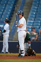 Tampa Yankees left fielder Trey Amburgey (17) at bat during a game against the Daytona Tortugas on August 5, 2016 at George M. Steinbrenner Field in Tampa, Florida.  Tampa defeated Daytona 7-1.  (Mike Janes/Four Seam Images)