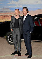 """LOS ANGELES, USA. October 08, 2019: Aaron Paul & Bryan Cranston  at the premiere of """"El Camino: A Breaking Bad Movie"""" at the Regency Village Theatre.<br /> Picture: Paul Smith/Featureflash"""