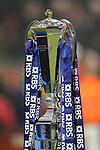 RBS 6 Nations trophy<br /> 2015 RBS 6 Nations<br /> Wales v England<br /> Millennium Stadium <br /> 06.02.15<br /> ©Steve Pope -SPORTINGWALES