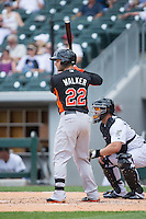 Christian Walker (22) of the Norfolk Tides at bat against the Charlotte Knights at BB&T BallPark on June 7, 2015 in Charlotte, North Carolina.  The Tides defeated the Knights 4-1.  (Brian Westerholt/Four Seam Images)