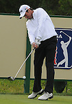 3 October 2008: Mark Hensby hits a tee shot during his second round 69 at the Turning Stone Golf Championship in Verona, New York.