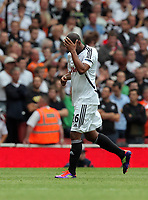 Pictured: Kemy Agustien of Swansea City in action. Saturday 10 September 2011<br />
