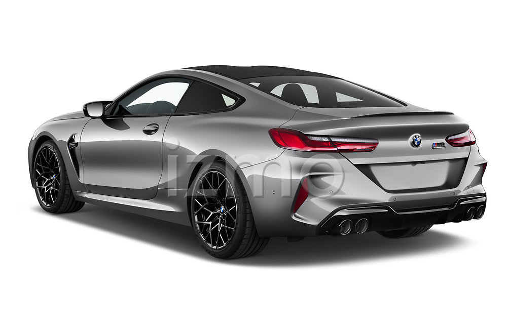 Car pictures of rear three quarter view of 2020 BMW M8 M8-Competition 2 Door Coupe Angular Rear