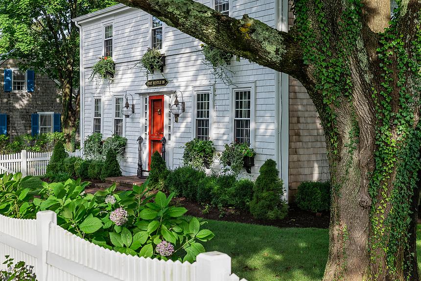 Charming house and yard, Chatham, Cape Cod, Massachusetts, USA.