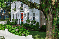 Charming house and yard, Chatham, Cape Cod, Massachusetts, USA.
