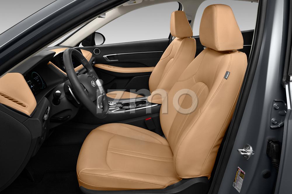 Front seat view of 2020 Hyundai Sonata-Hybrid Limited 4 Door Sedan Front Seat  car photos