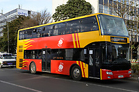 ETHIOPIA , Addis Ababa, public transport, Anbassa bus  / AETHIOPIEN, Addis Abeba, Anbassa Stadt Bus