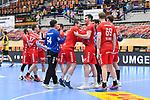 Jubel bei den Eulen nach dem Sieg beim Spiel in der Handball Bundesliga, Die Eulen Ludwigshafen - HSC 2000 Coburg.<br /> <br /> Foto © PIX-Sportfotos *** Foto ist honorarpflichtig! *** Auf Anfrage in hoeherer Qualitaet/Aufloesung. Belegexemplar erbeten. Veroeffentlichung ausschliesslich fuer journalistisch-publizistische Zwecke. For editorial use only.