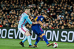 Luis Alberto Suarez Diaz (R) of FC Barcelona fights for the ball with Andreu Fontas Prat of RC Celta de Vigo  during the Copa Del Rey 2017-18 Round of 16 (2nd leg) match between FC Barcelona and RC Celta de Vigo at Camp Nou on 11 January 2018 in Barcelona, Spain. Photo by Vicens Gimenez / Power Sport Images