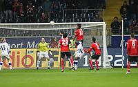 Kopfball Sotirios Kyrgiakos (Eintracht)<br /> Eintracht Frankfurt vs. Arminia Bielefeld, Commerzbank Arena<br /> *** Local Caption *** Foto ist honorarpflichtig! zzgl. gesetzl. MwSt. Auf Anfrage in hoeherer Qualitaet/Aufloesung. Belegexemplar an: Marc Schueler, Am Ziegelfalltor 4, 64625 Bensheim, Tel. +49 (0) 6251 86 96 134, www.gameday-mediaservices.de. Email: marc.schueler@gameday-mediaservices.de, Bankverbindung: Volksbank Bergstrasse, Kto.: 151297, BLZ: 50960101