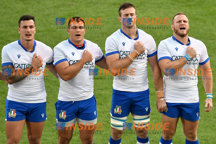 Paolo Garbisi, Danilo Fischetti , Braam Steyn and Luca Bigi of Italy during the rugby Autumn Nations Cup's match between Italy and Scotland at Stadio Artemio Franchi on November 14, 2020 in Florence, Italy. Photo Andrea Staccioli / Insidefoto