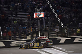 NASCAR XFINITY Series<br /> O'Reilly Auto Parts 300<br /> Texas Motor Speedway<br /> Fort Worth, TX USA<br /> Saturday 4 November 2017<br /> Erik Jones, GameStop Call of Duty WWII Toyota Camry, crosses the finish line.<br /> World Copyright: John K Harrelson<br /> LAT Images