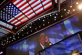 Boston, Mass..USA.JUly 26, 2004..The opening night of the Democratic National Convention in Boston. Former President Bill Clinton speaks at the convention...