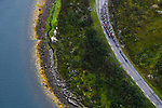 The peloton in action during Stage 2 of the 2018 Artic Race of Norway, running 195km from Tana to Kjøllefjord, Norway. 17th August 2018. <br /> <br /> Picture: ASO/Pauline Ballet | Cyclefile<br /> All photos usage must carry mandatory copyright credit (© Cyclefile | ASO/Pauline Ballet)