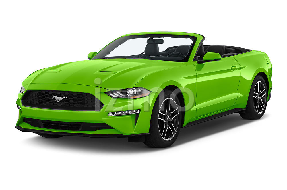2020 Ford Mustang EcoBoost-Premium 2 Door Convertible Angular Front automotive stock photos of front three quarter view
