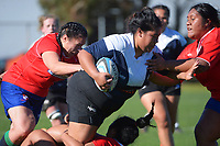 Action from the Wellington Rebecca Liua'ana Trophy premier women's club rugby match between Marist St Pat's and Petone at Kilbirnie Park in Wellington, New Zealand on Saturday, 15 May 2021. Photo: Dave Lintott / lintottphoto.co.nz