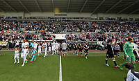Pictured: Team players enter the stadium.<br /> Sunday 19 May 2013<br /> Re: Barclay's Premier League, Swansea City FC v Fulham at the Liberty Stadium, south Wales.