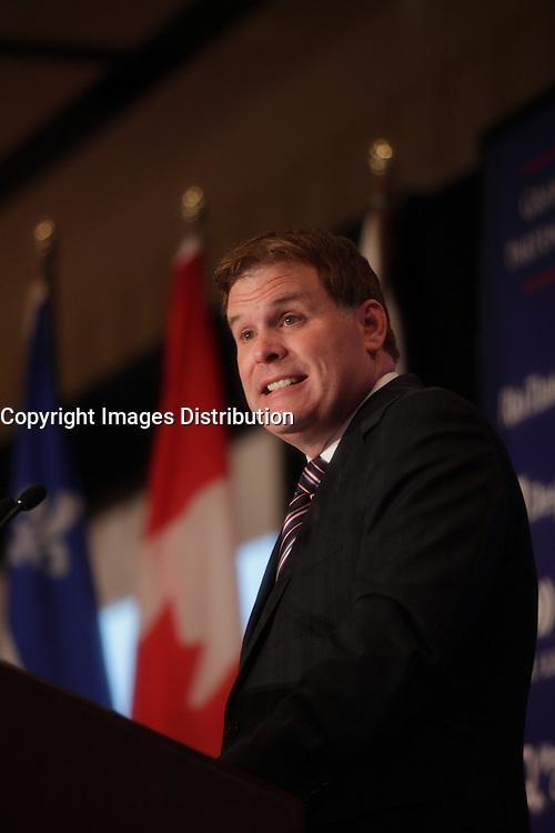 September 14, 2012 - Montreal, Quebec , CANADA - John Baird, Canada's Foreign Affairs Ministers adress the CORIM about ''Canadian values in a changing world''.<br /> <br /> FRENCH CAPTION BELOW :<br /> L'honorable John Baird,<br /> Ministre des Affaires etrangeres du Canada prononce un allocation intitulee '' Affirmer les valeurs canadiennes<br /> dans un monde en changement'' devant le CORIM, a Montreal, le 14 septembre 2012.
