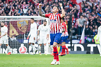 Jose Maria Gimenez of Atletico de Madrid celebrating a goal during La Liga match between Atletico de Madrid and Real Madrid at Wanda Metropolitano in Madrid Spain. February 09, 2018. (ALTERPHOTOS/Borja B.Hojas)<br /> Liga Campionato Spagna 2018/2019<br /> Foto Alterphotos / Insidefoto <br /> ITALY ONLY