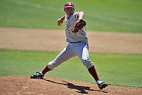 02 June 2008:  Stanford Cardinal Drew Storen (26) during Stanford's 9-7 win over the Pepperdine Waves in the NCAA Stanford Regional final game at Klein Field at Sunken Diamond in Stanford, CA.