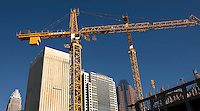 Construction continues in the shadow of uptown Charlotte, NC.
