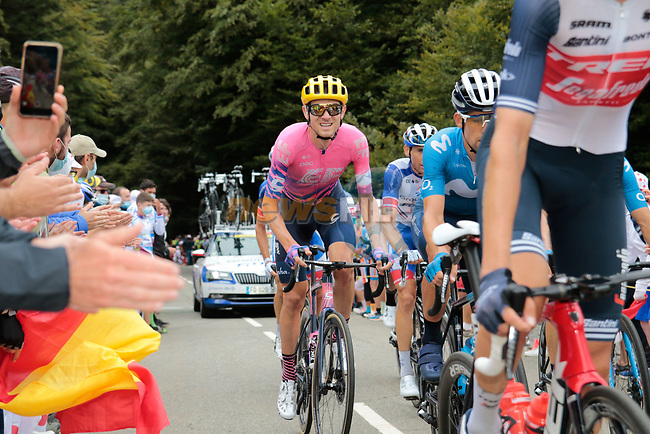 Tejay Van Garderen (USA) EF Pro Cycling climbs Col de Marie Blanque during Stage 9 of Tour de France 2020, running 153km from Pau to Laruns, France. 6th September 2020. <br /> Picture: Colin Flockton | Cyclefile<br /> All photos usage must carry mandatory copyright credit (© Cyclefile | Colin Flockton)