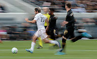 LOS ANGELES, CA - MARCH 01: Rodolfo Pizarro #10 of Inter Miami CF moving with the ball during a game between Inter Miami CF and Los Angeles FC at Banc of California Stadium on March 01, 2020 in Los Angeles, California.