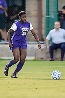 TCU forward Kela Gray (24) during NCAA soccer game, Friday, September 12, 2014 in San Marcos, Tex. TCU defeated Texas State 1-0. (Mo Khursheed/TFV Media via AP Images)