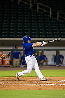 AZL Cubs third baseman Cam Balego (82) follows through on his swing against the AZL White Sox on August 13, 2017 at Sloan Park in Mesa, Arizona. AZL White Sox defeated the AZL Cubs 7-4. (Zachary Lucy/Four Seam Images)