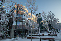 UAA's East Hall during a January cold snap.