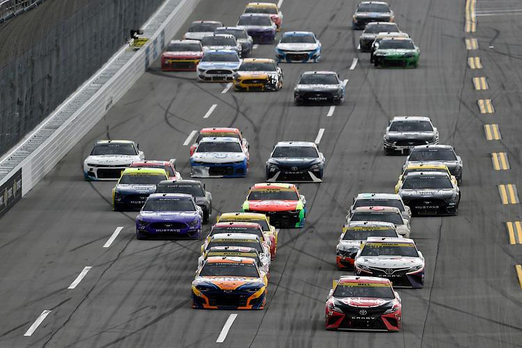 #20: Christopher Bell, Joe Gibbs Racing, Toyota Camry Rheem and #47: Ricky Stenhouse Jr., JTG Daugherty Racing, Chevrolet Camaro SunnyD