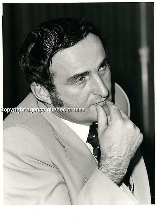 File Photo  -  Pierre Bourque, Horticulteur en chef, Floralies Internationales de Montreal  1980.<br /> <br /> <br /> PHOTO : agence quebec presse