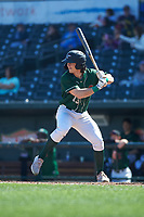 Great Lakes Loons James Outman (13) at bat during a Midwest League game against the Wisconsin Timber Rattlers at Dow Diamond on May 4, 2019 in Midland, Michigan. Great Lakes defeated Wisconsin 5-1. (Zachary Lucy/Four Seam Images)