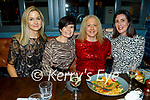 Norma Purcell, Norma Fitzgibbon, Aine Moriarty and Joanne Noonan enjoying the evening in the Ashe Hotel on Friday.
